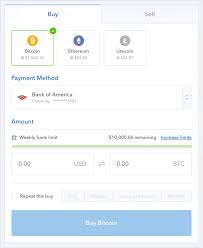 coinbase bitcoin instantly credit card bank account