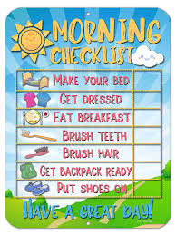 Honey Dew Gifts Daily Morning Routine Reward Chart For Kids And Autism Tin Learning Calendar For Kids Teaching Tool