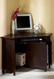 small corner oak home office computer table