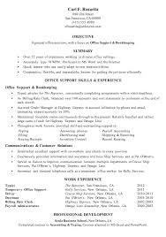 office experience resume