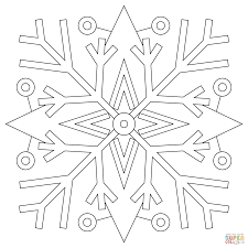 Small Picture Snowflakes Mandala coloring page Free Printable Coloring Pages