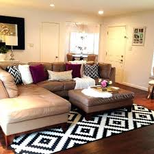 brown leather furniture living room ideas how to place an area rug under a couch designs