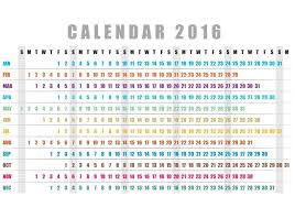 Horizontal Calendar Horizontal Calendar 2016 Vector Download Free Vectors