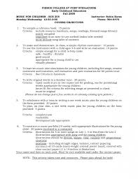 Early Childhood Education Resume Samples Teaching Resume Examples