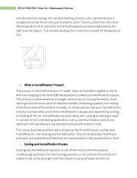 Sensible Cooling Psychrometric Chart Psychrometric Processes