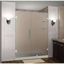 bathroom shower doors frosted. Wonderful Shower Nautis GS 60 In X 72 Frameless Hinged Shower Door With Frosted Glass In Bathroom Doors