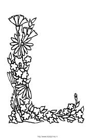 Kleurplaat Alfabet Bloemen 4182 Kleurplaten