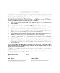 Financial Non Disclosure Agreement Template Real Estate