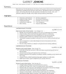 Electrician Job Duties Maintenance Electrician Resume Wikirian Com
