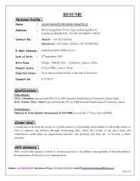 Example Of Profile On Resume Best Profile Section Of Resume Cv Example Skills Section Resume Template
