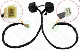 pair motorcycle 1 034 handlebar black control switches amp pair motorcycle 1 handlebar control switches black wiring harness for harley