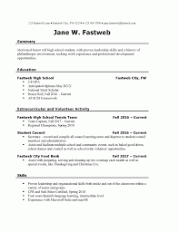 Resume For Teenager First Job Students Canada Template Australia