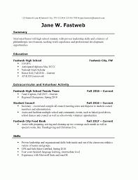 Resume For Teenager First Job Sample Resumes Format Inside