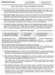 Public Health Resume Sample Public Information Officer Resume Public Information Officer 15