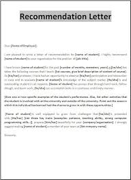 Letter Of Reference Example Template Best Recommendation Letter Template Templates Pinterest Letter
