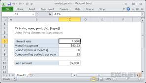 How To Use The Excel Pv Function Exceljet