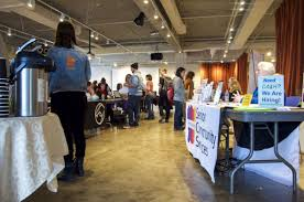 job fair minneapolis college of art and design had the opportunity to walk up to each organization s table and ask all the questions they had about current or future internship and job opportunities