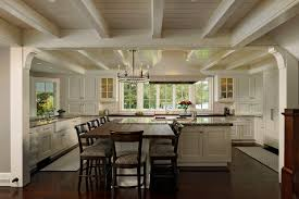 black kitchen chandelier kitchen traditional with eat in kitchen exposed beams multiple workzones