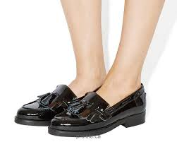 women office extravaganza loafers flats black patent leather