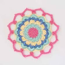Free Crochet Mandala Pattern Awesome Flower Power Mandala Free Crochet Pattern REDAGAPE
