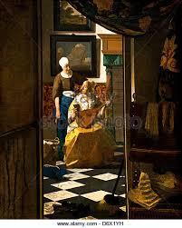 the love letter 1669 johannes vermeer or jan vermeer 1632 1675 dutch d6x1yh