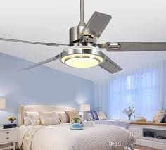 2019 stainless steel ceiling fan lamp 5 blade indoor ceiling fan lamp with remote control brush nickel ceiling fan 48 52 inch llfa from volvo dh2010