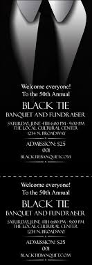 broadway ticket template black tie event ticket