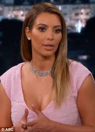 He needed space: Kim tried to explain to Jimmy Kimmel that Kanye needed some time away from her family after moving in with her mother - article-2545110-1AEB7B1300000578-965_306x423