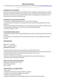 Assistant Chef Resumes Chef Resume Sample Lake Techs Career Center