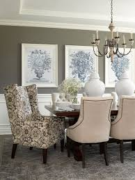 art for the dining room. Perfect Room Dining Room Walls In Deep Gray Provide Background For A Grouping Of  Largescale Art On Art For The Dining Room I