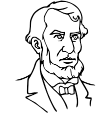 abe lincoln coloring page presidents day coloring pages on color a penny in honor of abes