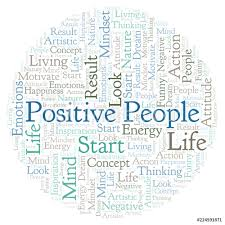 Wall Murals Positive People Word Cloud Made With Text Only