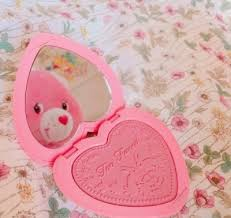 pastel pink two faced care bear pink aesthetic makeup fl