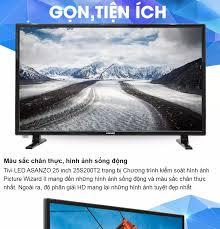 Tivi Led Asanzo 25 inch Model 25S200T2 (HD HDMI VGA AV Truyền hình số mặt  đất Âm Thanh Vòm Ảo Dolby Màu đen) - Tivi Giá Rẻ - Bảo Hành 2 Năm