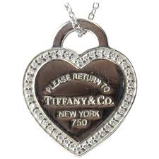tiffany co diamond gold please return to tiffany heart tag necklace for