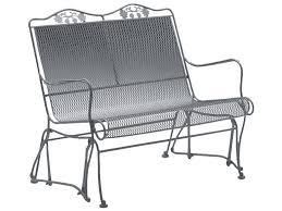 woodard briarwood wrought iron high back gliding loveseat wr400073 wrought iron patio furniture