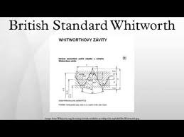 British Standard Cycle Thread Chart British Standard Whitworth