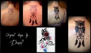 Tetování Sova A Lapač Snů Tetování Tattoo