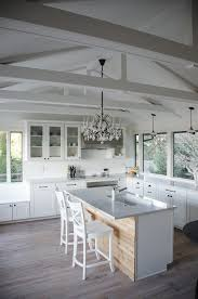 seattle chandeliers for girls kitchen shabby chic style with island seating rectangular dining room tables glass front cabinets