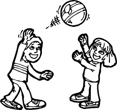 Small Picture Boy And Girl Ball Activity Coloring Page Wecoloringpage