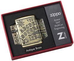 49001 <b>Зажигалка Zippo</b> Ouija Board Design, Armor <b>Antique Brass</b>