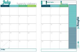 Printable 2017 Calendars With 2 Pages Per Month Calendar