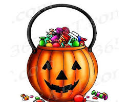 Image result for clipart candy bag halloween