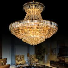 large metal crystal chandelier for hotel home project diy pendant lamp wh nc 10