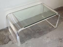 ... Clear Waterfall Minimalist Acrylic Coffee Tables Designs Ideas: acrylic  coffee tables design ideas ...