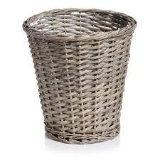 wilko willow waste paper bin grey at wilkocom