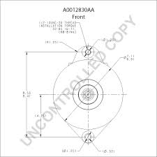 A0012830aa front dim drawing