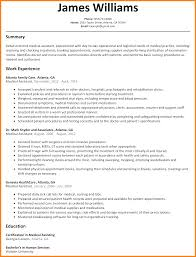 Example Resume For Medical Assistant Medical Assistant Externship