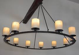image of rustic candle chandelier ideas