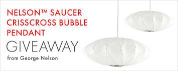 nelson saucer crisscross bubble pendant giveaway